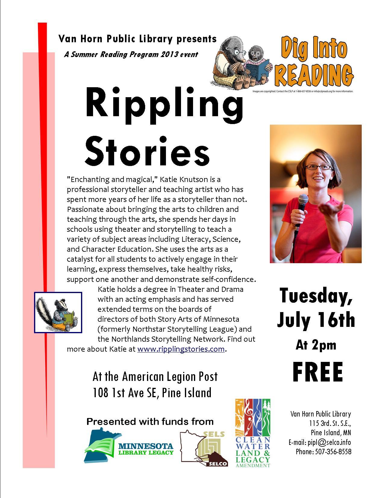 Rippling Stories flyer