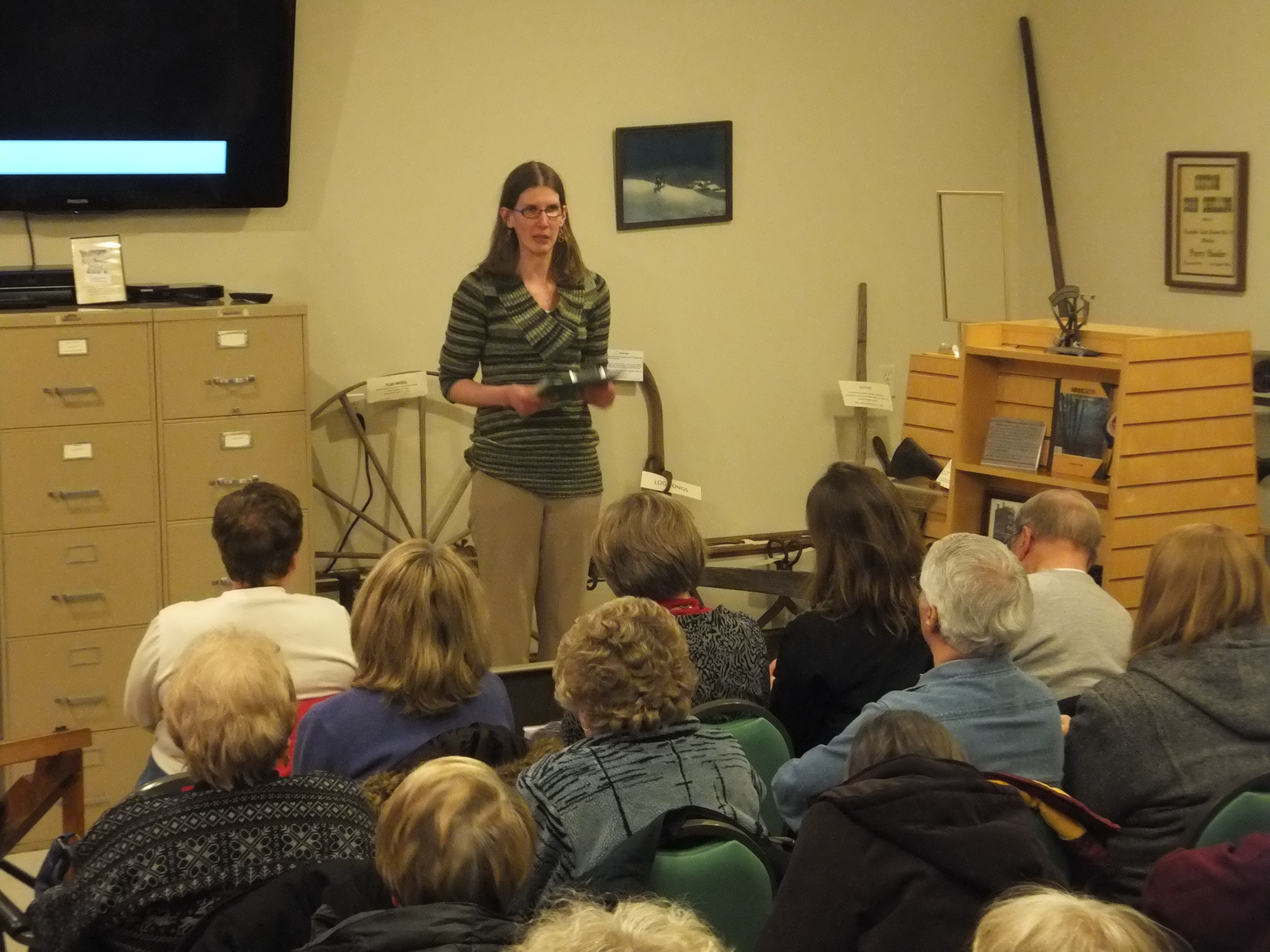"Our Director Morgan Hansen introducing the film ""The Children Remember"" at our One Town, One Title 2014 kickoff event on Feb. 4th."