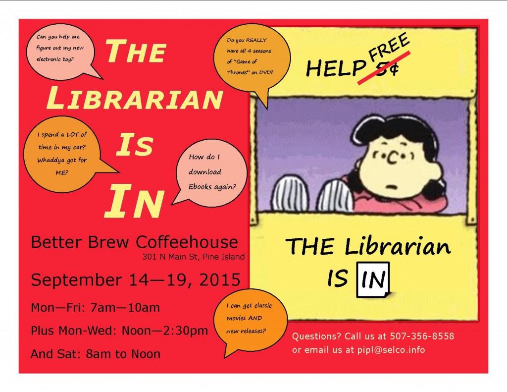 Librarian is in flyerFINAL