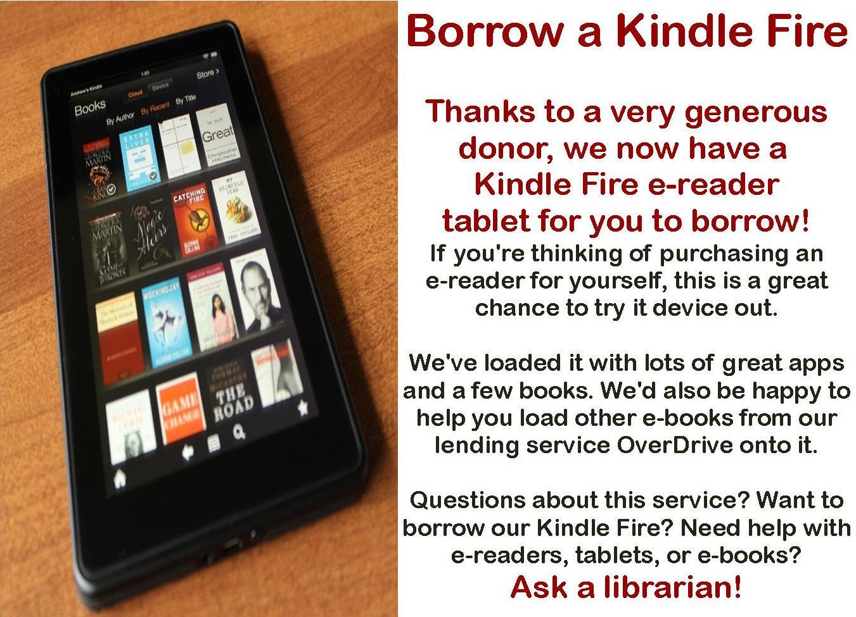 Borrow a Kindle Fire